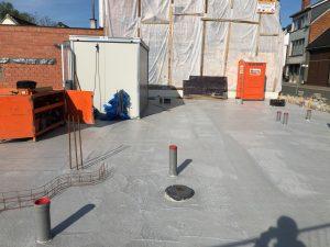 Vloerplaat 5 woningen Oudenaarde